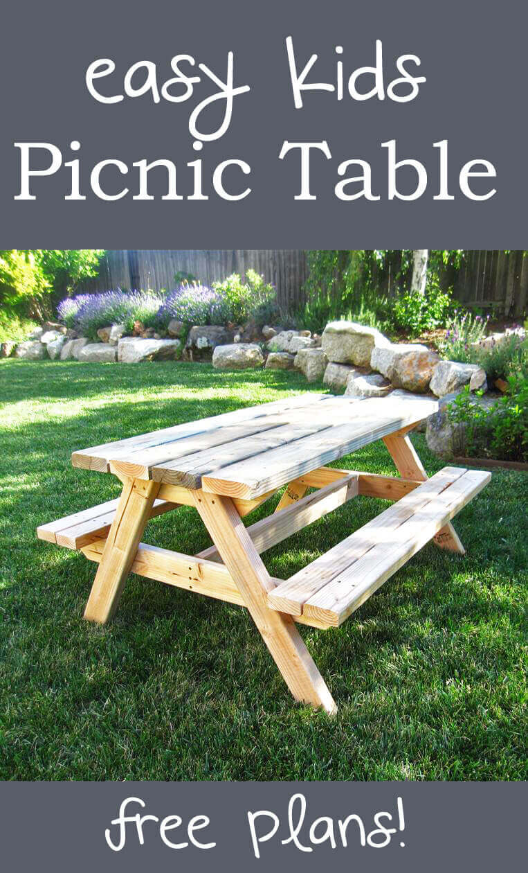 A Picnic Table for Lunch and Snacks