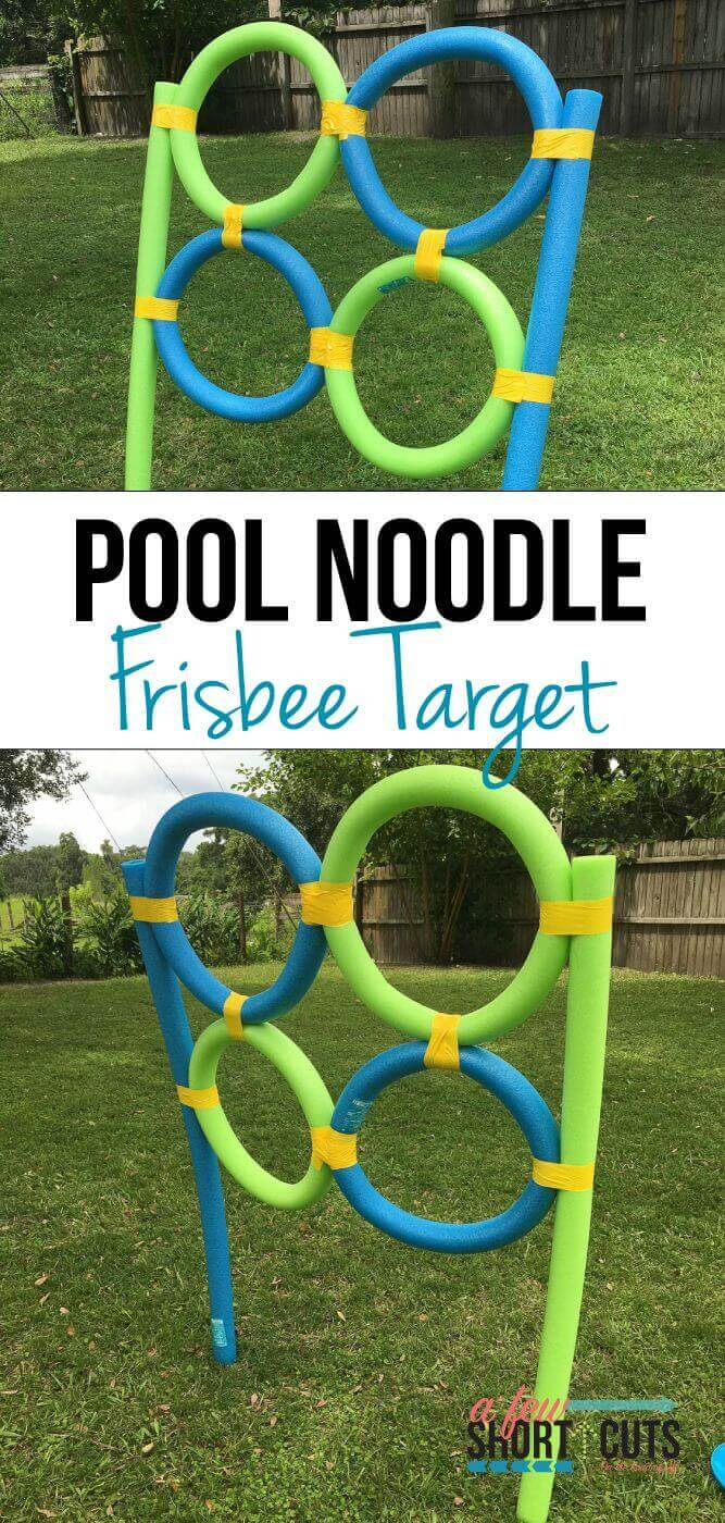 Pool Noodle and Frisbee Toss Game