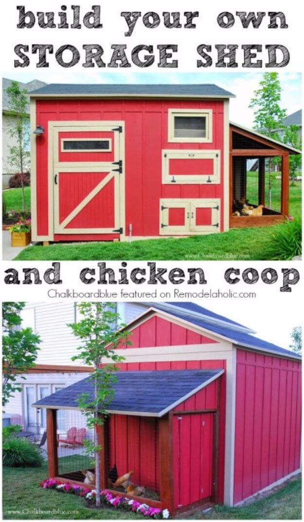 Build A DIY Chicken Coop – Storage Shed Combo