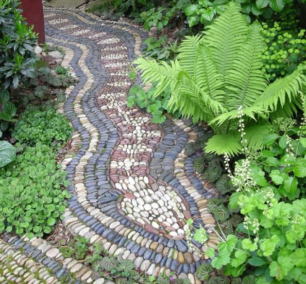 Making A Wonderful Garden Path Ideas Using Stones: 65+ Most Beautiful DIY Garden Path And Walkway Ideas