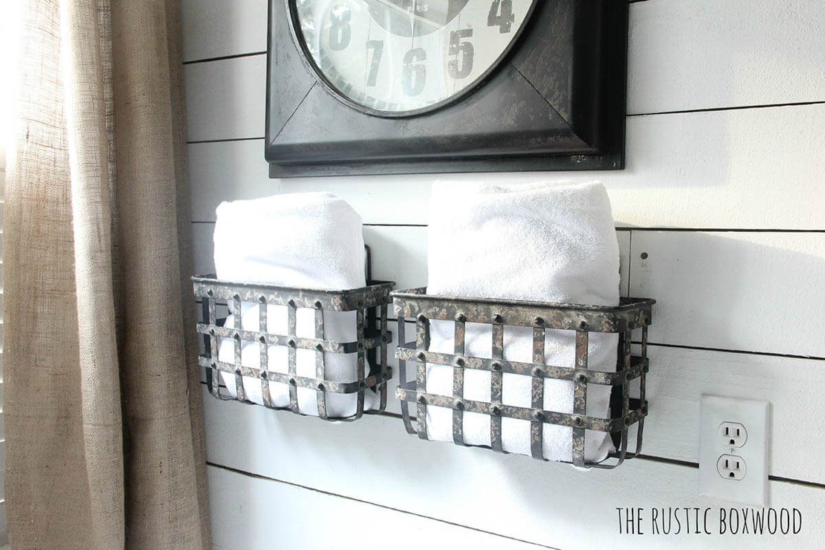 Wall Mounted Metal Baskets for Storage