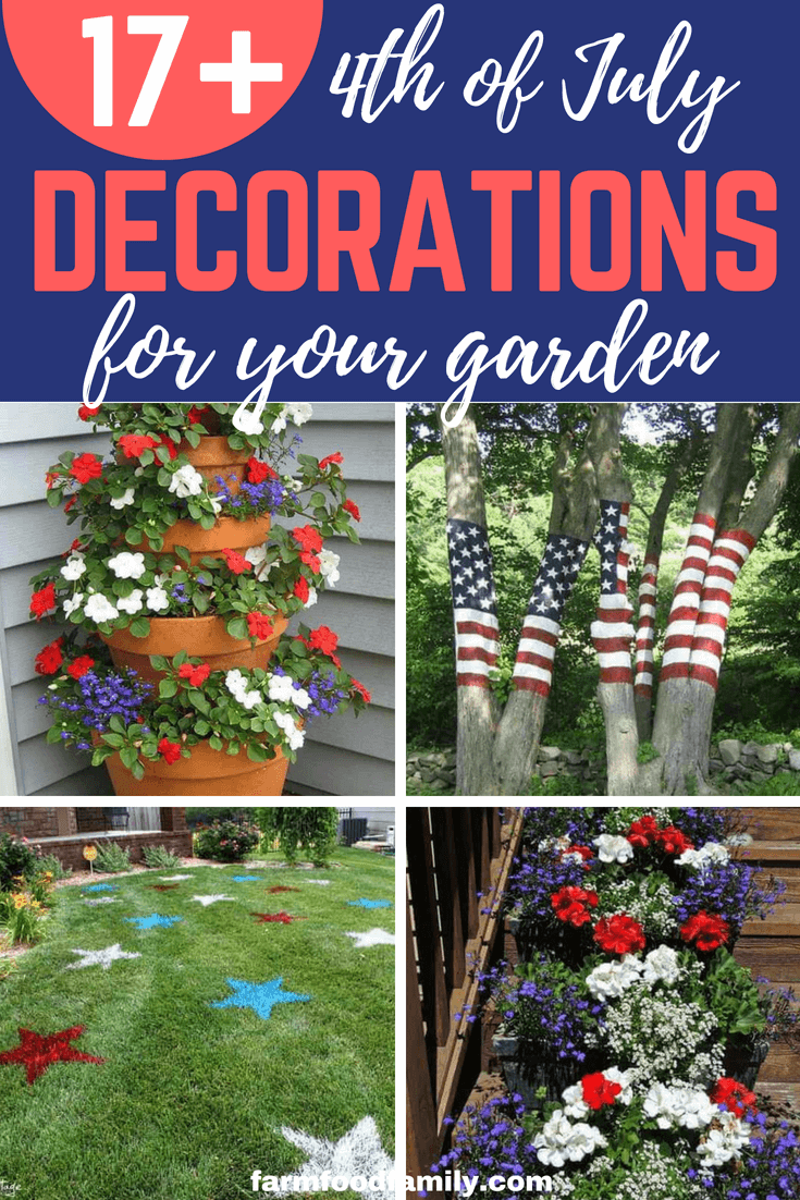 The4th of Julyis one big outdoor activity of fireworks, barbecue, family reunion, and picnics that will mostly take place in your garden. You don't have to go all out with planning and decorations as your garden may already have most of the decorative items you will need. Read on to get ideas on how you can spruce up your garden big time with simple yet delightful 4th of July decorations.