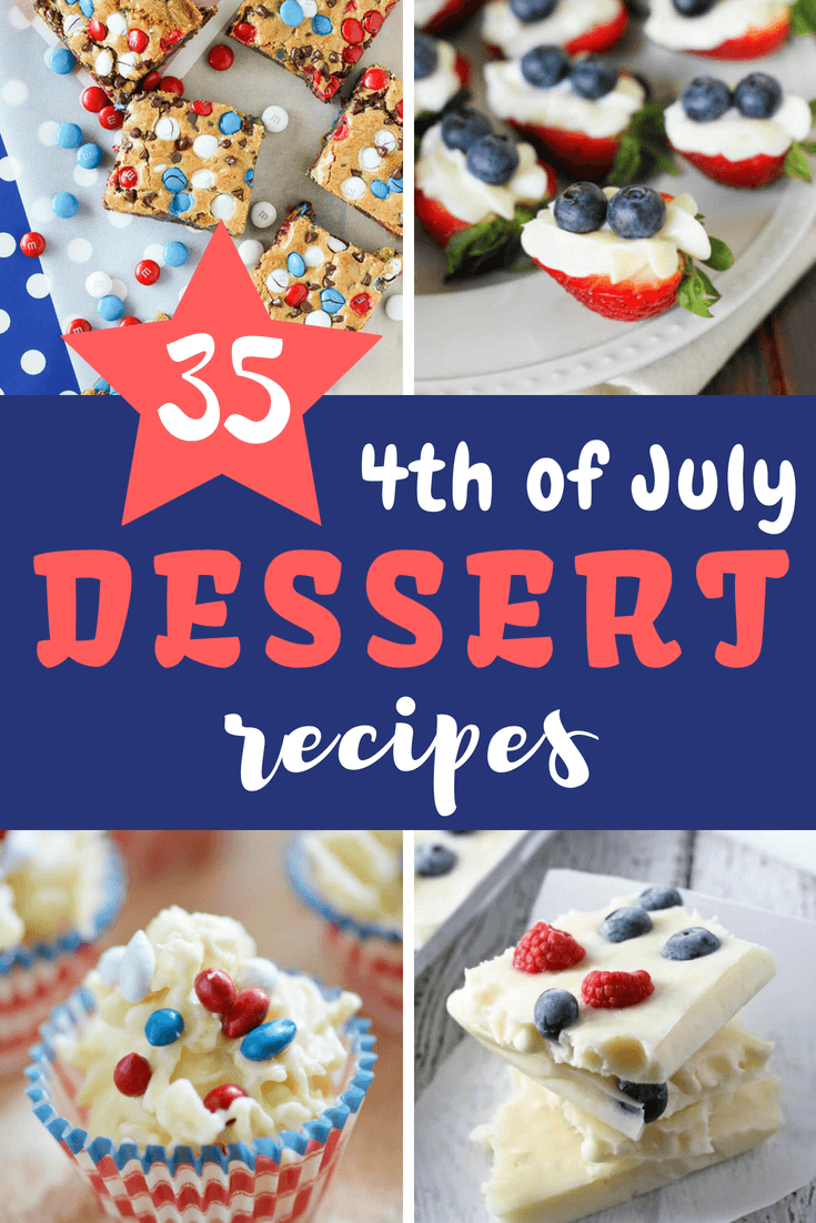 Celebrate the 4th of July with these melt-in-your-mouth desserts and fun ideas. #4thofjuly #patriotic #dessert #dessertrecipes #farmfoodfamily