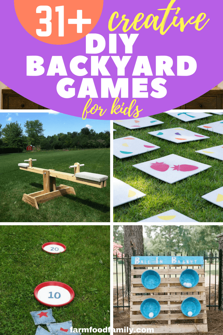 Checkout these 31+ DIY backyard games for kids this summer