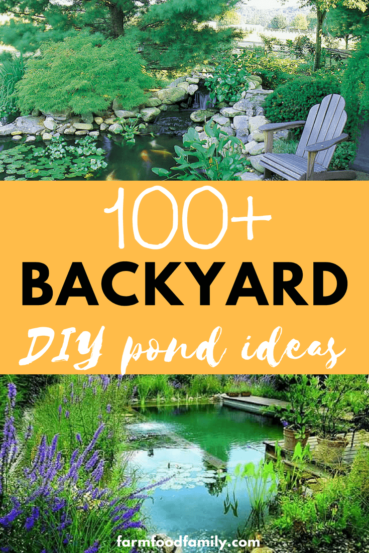 If you've been considering adding a water feature to your garden, but aren't sure where to start, the 100 DIY backyard pond ideas below are creative examples of what you can achieve. #backyard #pondideas #gardenideas #farmfoodfamily