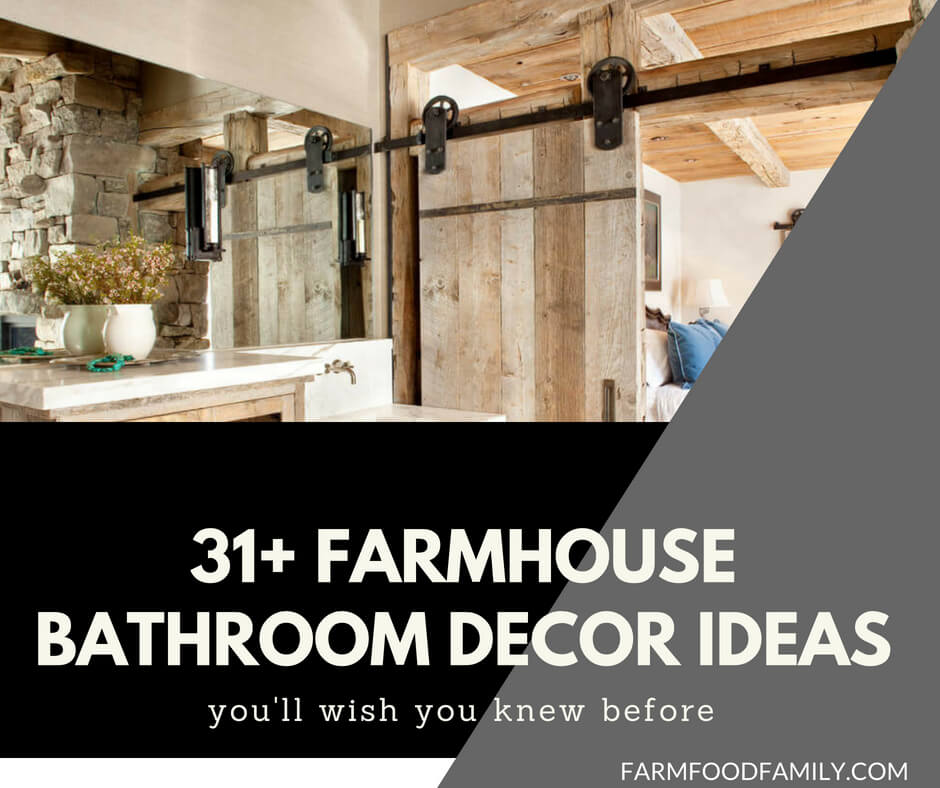 Farmhouse bathroom design & decor ideas