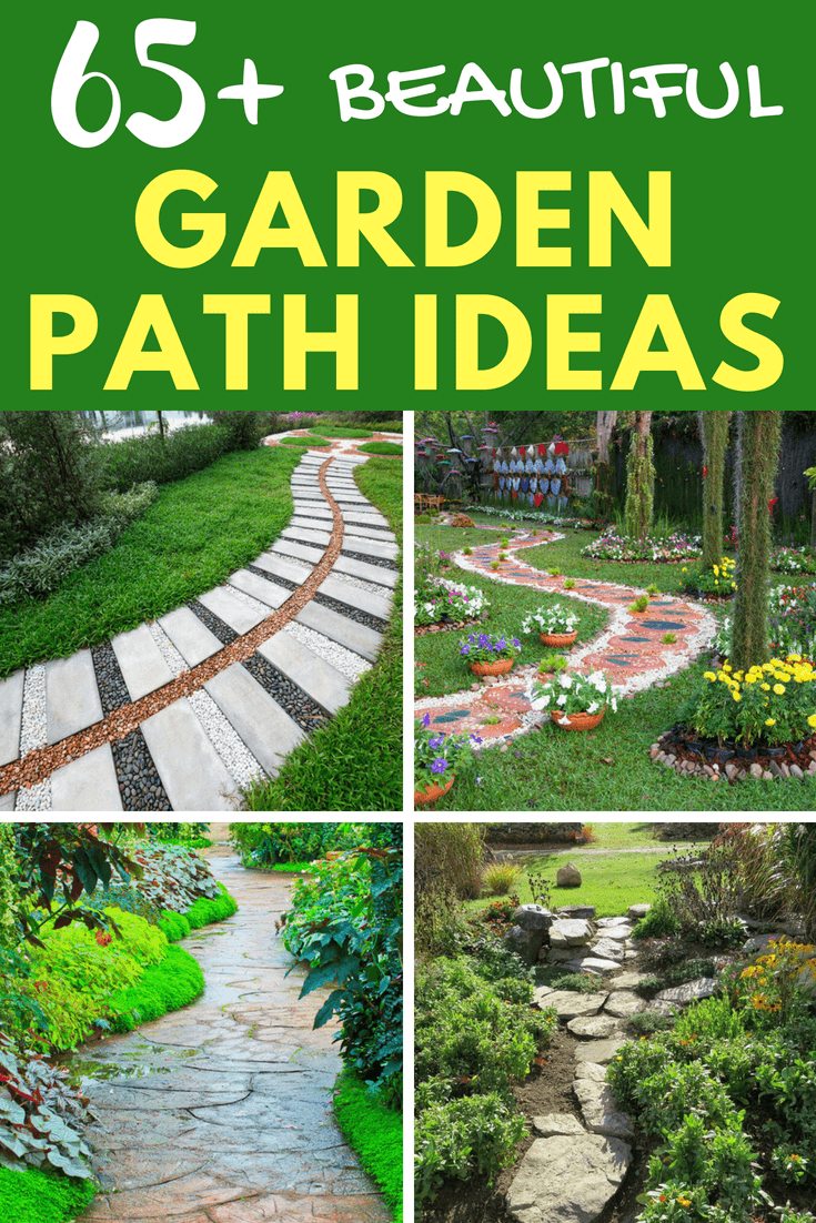 Check out these 65+ most beautiful and inspiring DIY garden path ideas (including small and large ideas).