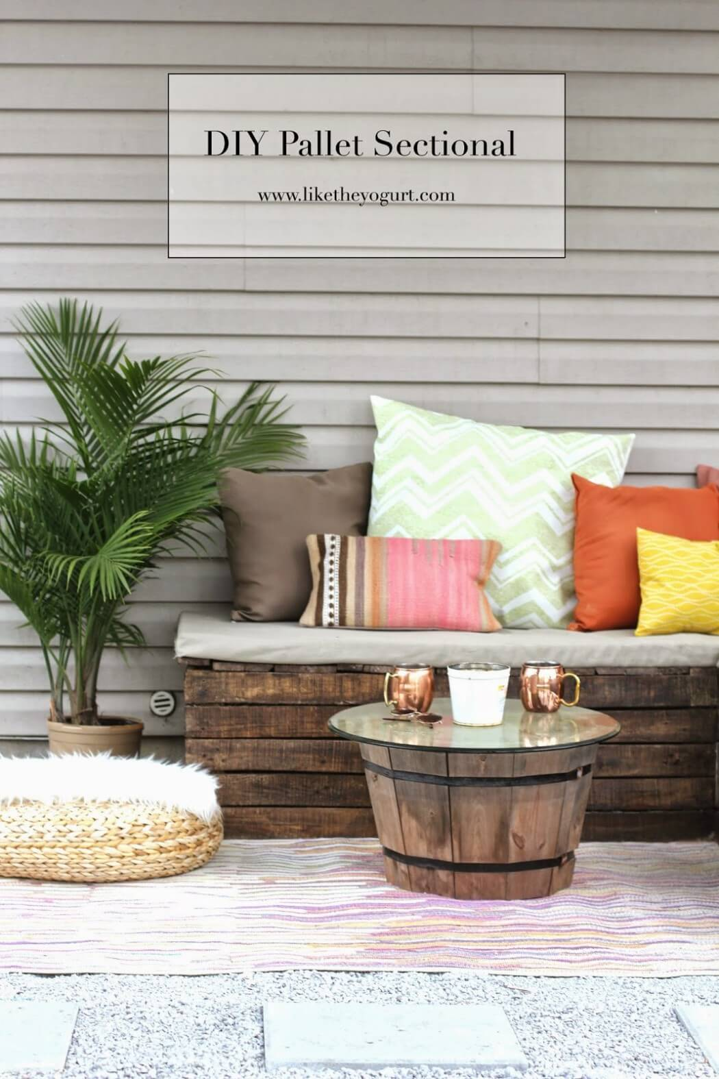 DIY Outdoor Furniture Projects: Chic Cantina DIY Outdoor Furniture Ideas