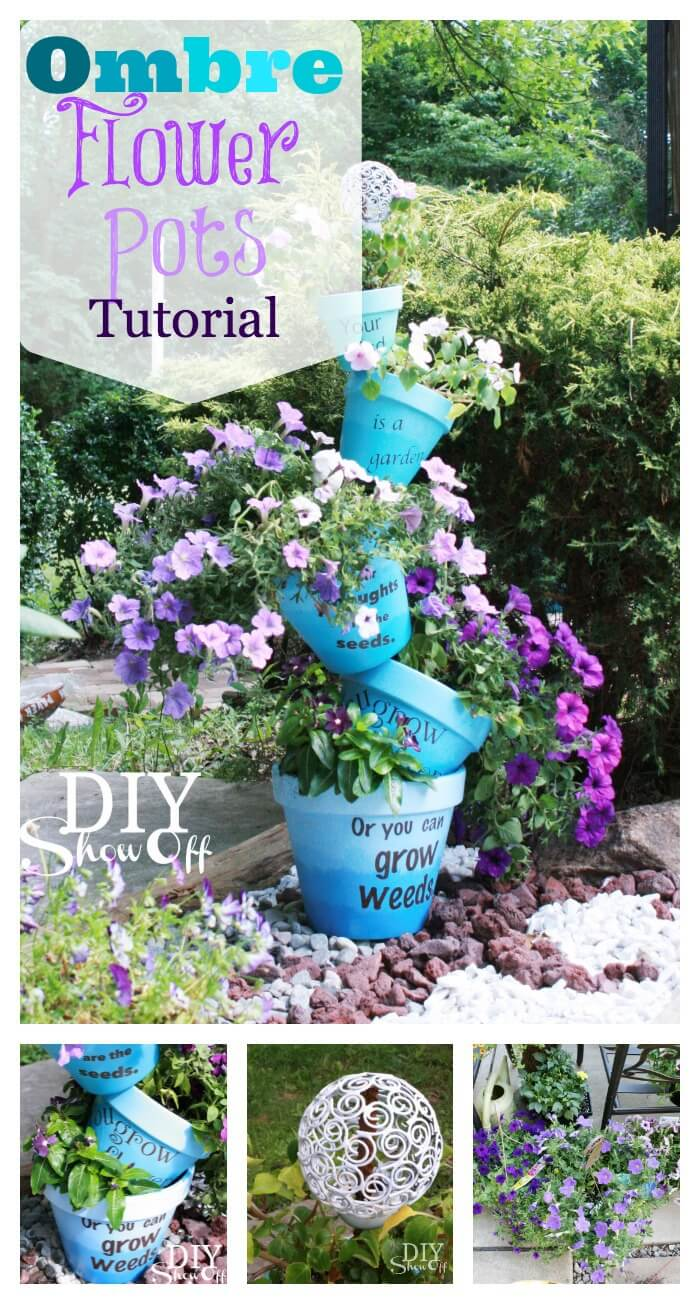 DIY Flower Towers Ideas: Giant Waterfall of Colorful Flowers