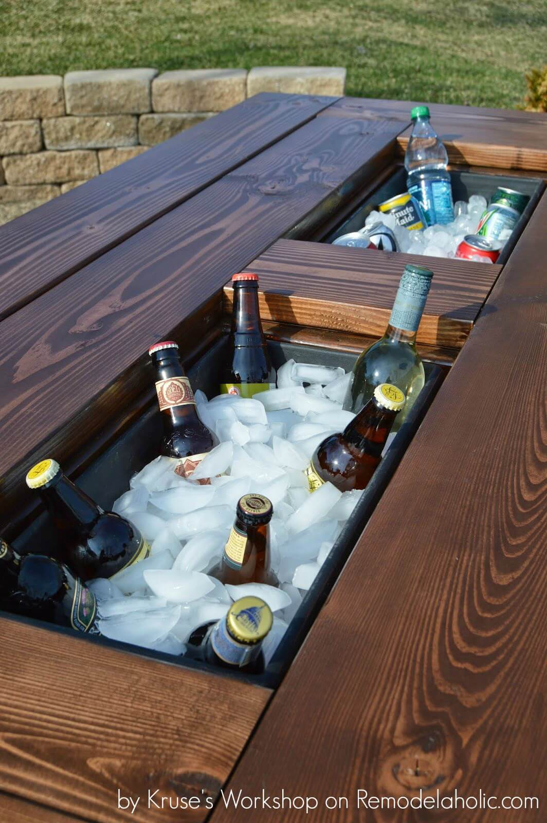 DIY Outdoor Furniture Projects: Pacific Poolside Patio Table With Built-In Icebox
