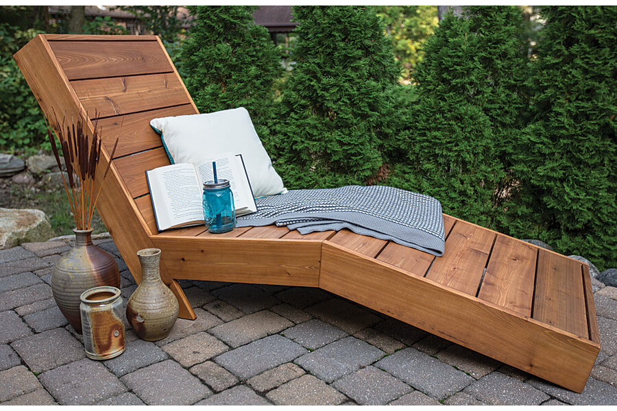 DIY Outdoor Furniture Projects: Tahitian Style Reclining Chaise