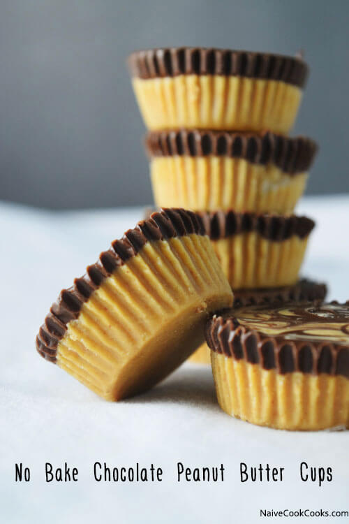 No Bake, Just 4 Ingredients Chocolate Peanut Butter Cups