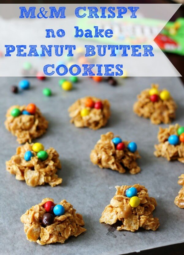 M&M'S® Cryspy No Bake Peanut Butter Cookies