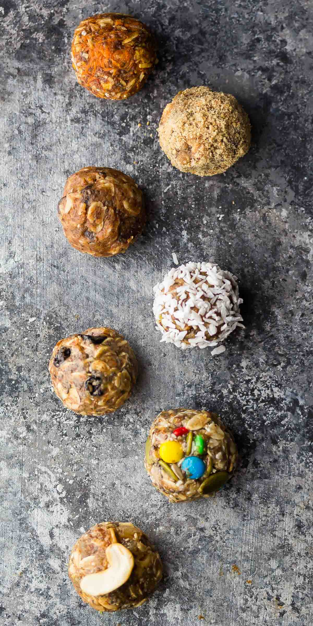 No Bake Energy Bites 7 Ways (Make Ahead)