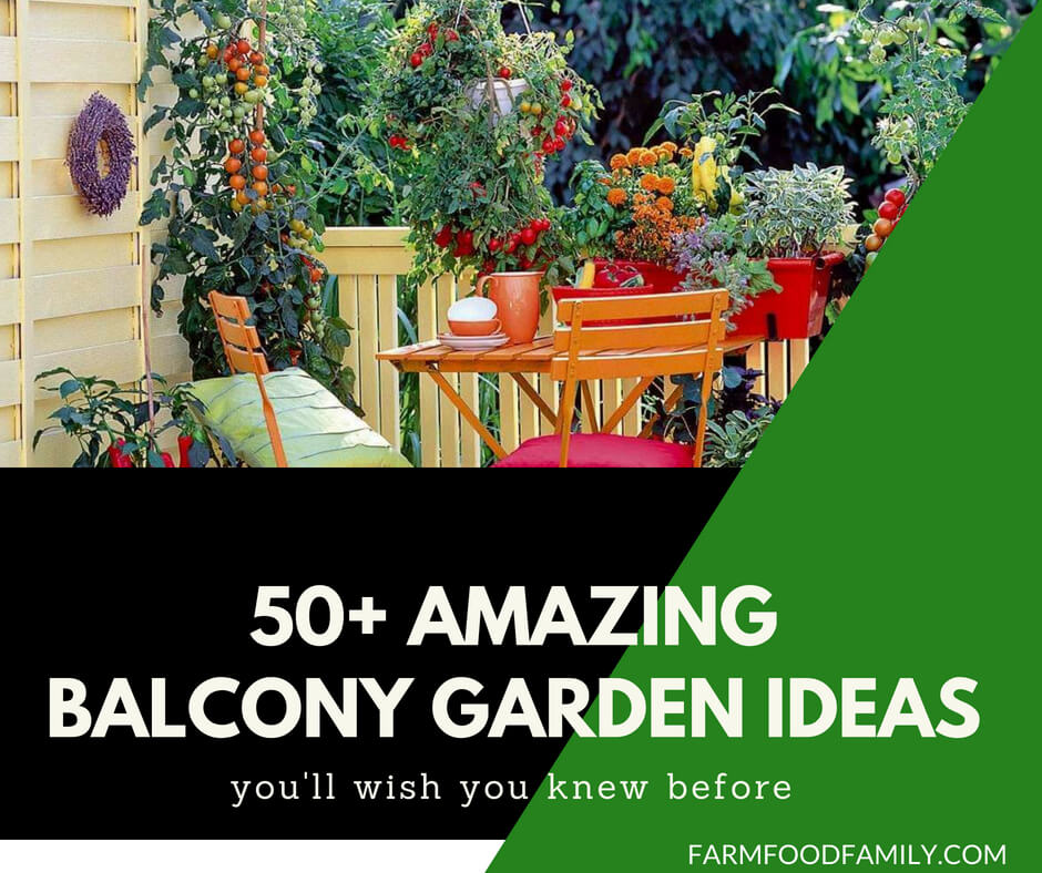 50+ Best balcony Garden Designs and Ideas