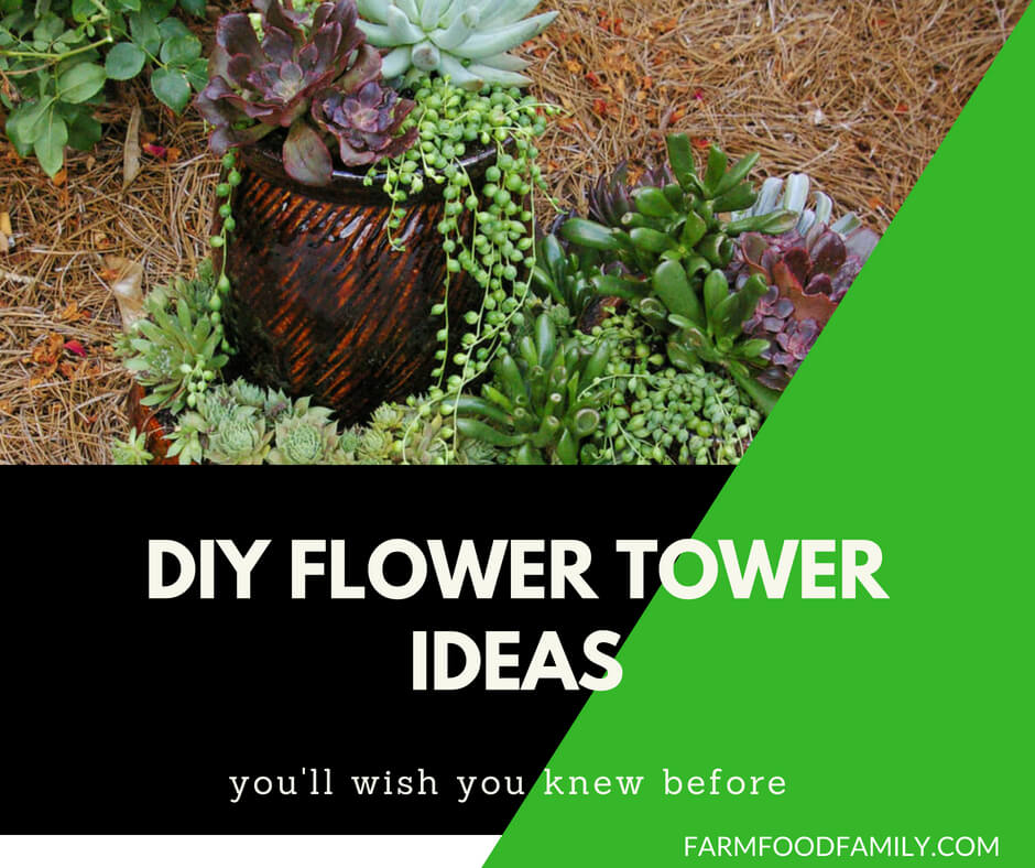 31+ DIY Flower Tower Ideas For Your Yard
