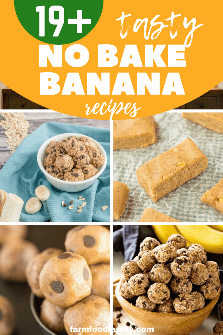 Here're 19+ Best No Bake Banana Recipes You Can Make For Your Family #nobake #banana #cooking #farmfoodfamil