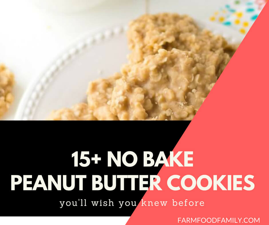 15 Healthy No Bake Peanut Butter Cookies Farm Food Family