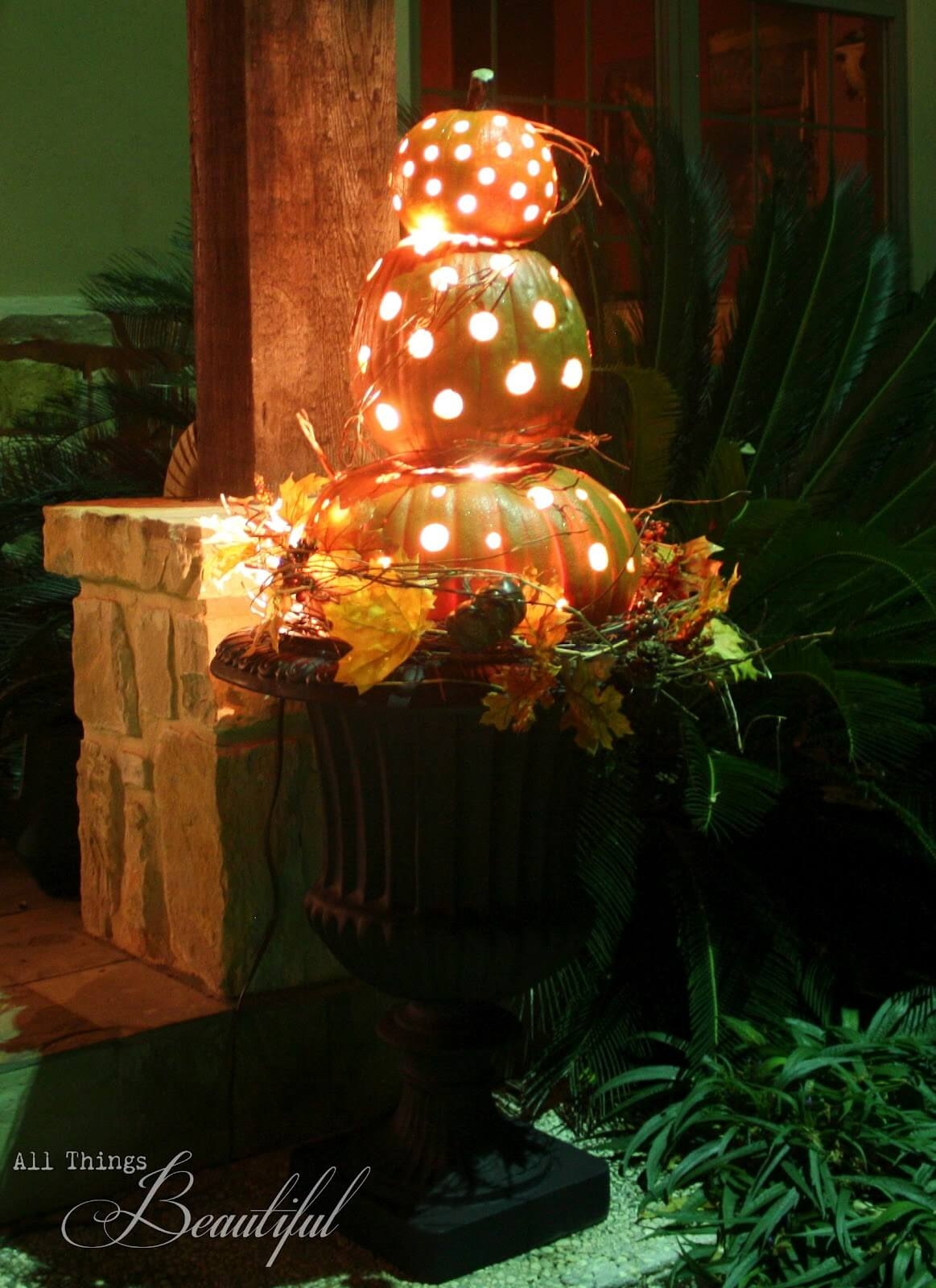 A Glowing Homage to Fall | Fall Porch Decoration Ideas | Porch decor on a budget
