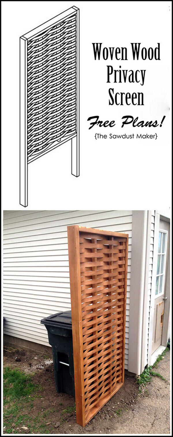 Wooden Privacy Screens Come In All Sizes | Outdoor Eyesore Hiding Ideas