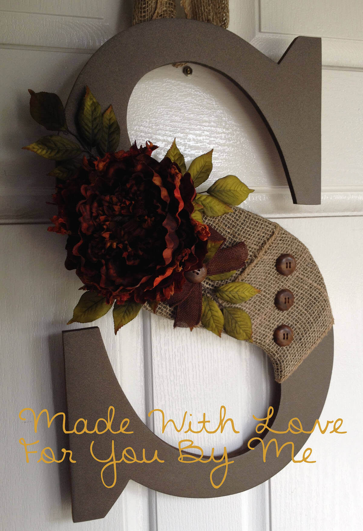 Dressed Up Monogram with Corsage
