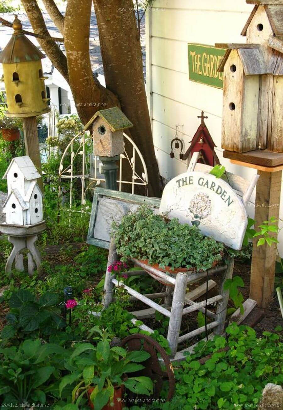 Cottage Style Garden Ideas for Old Furniture