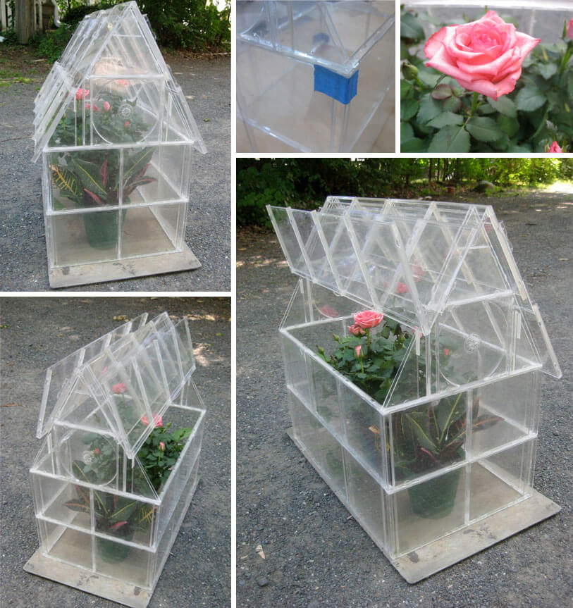 Small A-Frame Garden With an Easy-Access Roof | Build a beautiful outdoor greenhouse | Creative Greenhouse DIY plans