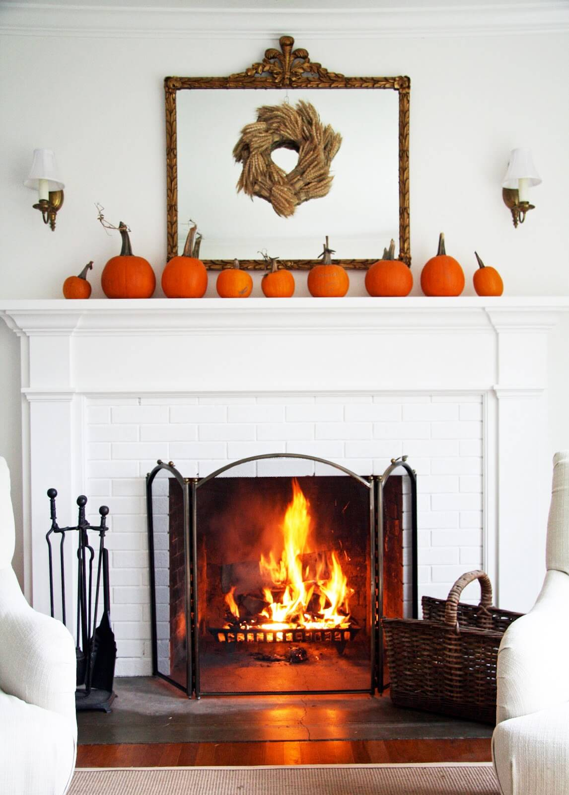 Simple Elegance for Fall Mantel Décor Ideas | Fall Mantel Decorating Ideas For Halloween