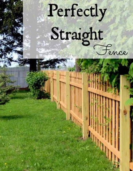 DIY Fence Ideas: Perfectly Straight Natural Wood Picket Fence