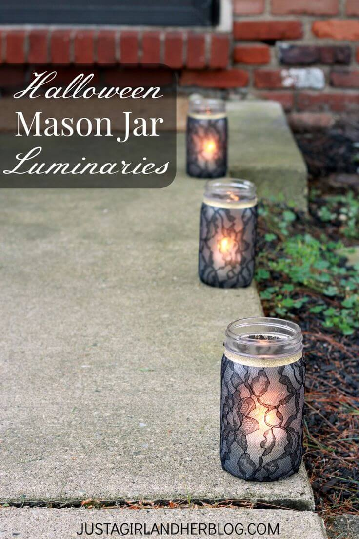 DIY Mason Jar Halloween Crafts: Spooky and Sophisticated Mason Jar Luminaries