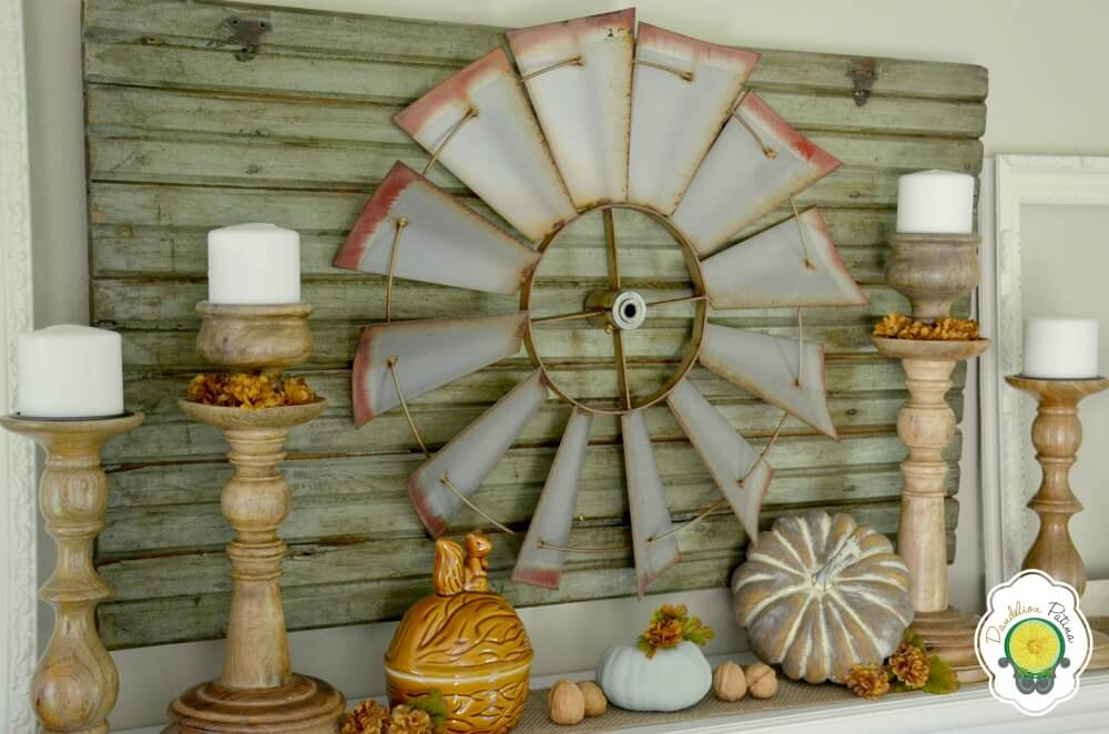 Country Theme Makes Fall Feel at Home | Fall Mantel Decorating Ideas For Halloween