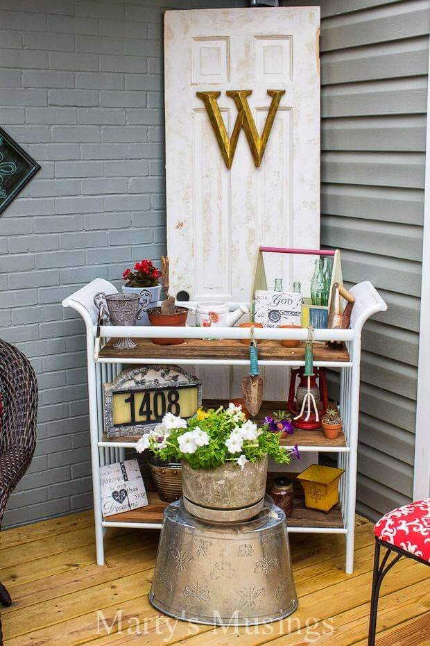 Stand a Door in the Corner | Creative Repurposed Old Door Ideas & Projects For Your Backyard