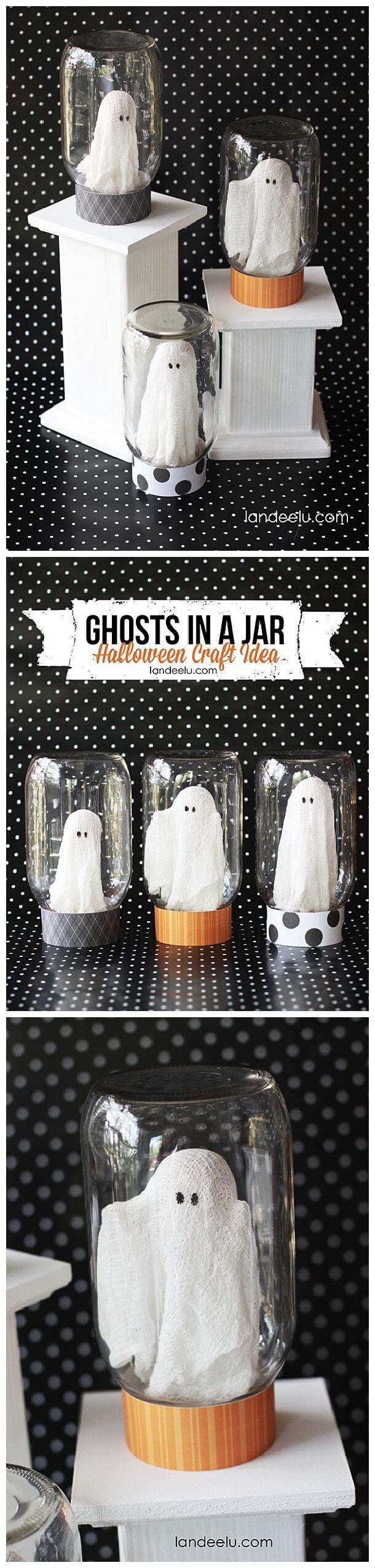 DIY Mason Jar Halloween Crafts: Catch-A-Ghost Halloween Craft Idea