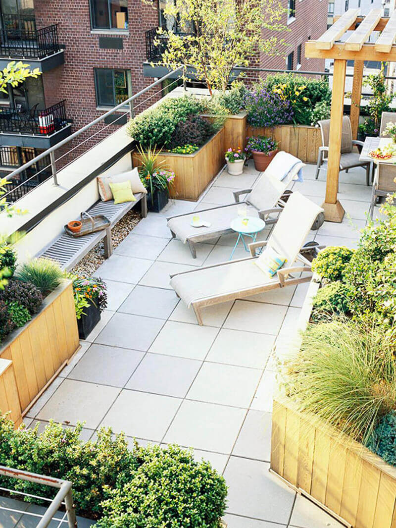 Built-In Patio Planter Boxes