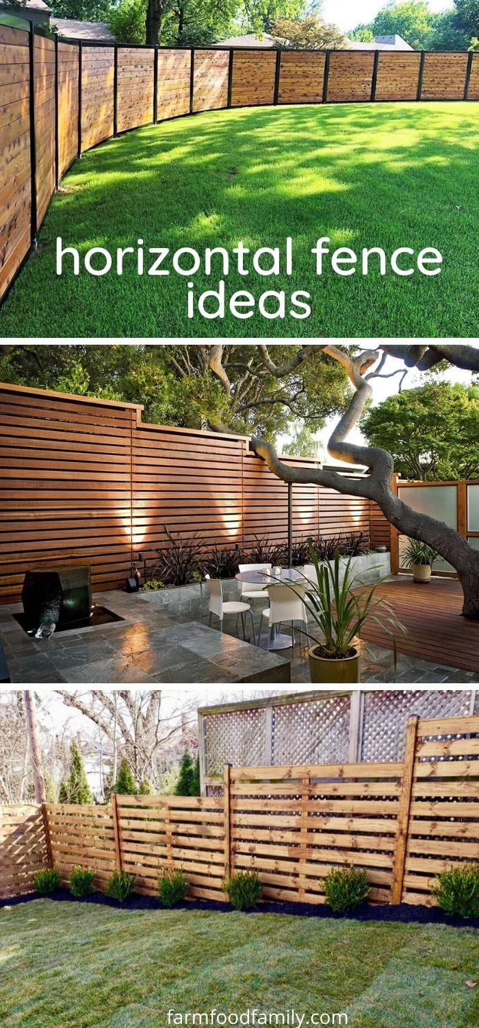 Horizontal fence ideas and designs