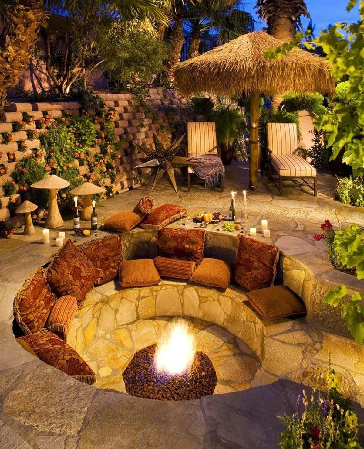 A Fire Hole with an Island Feel   Awesome Firepit Area Ideas For Your Outdoor Activities
