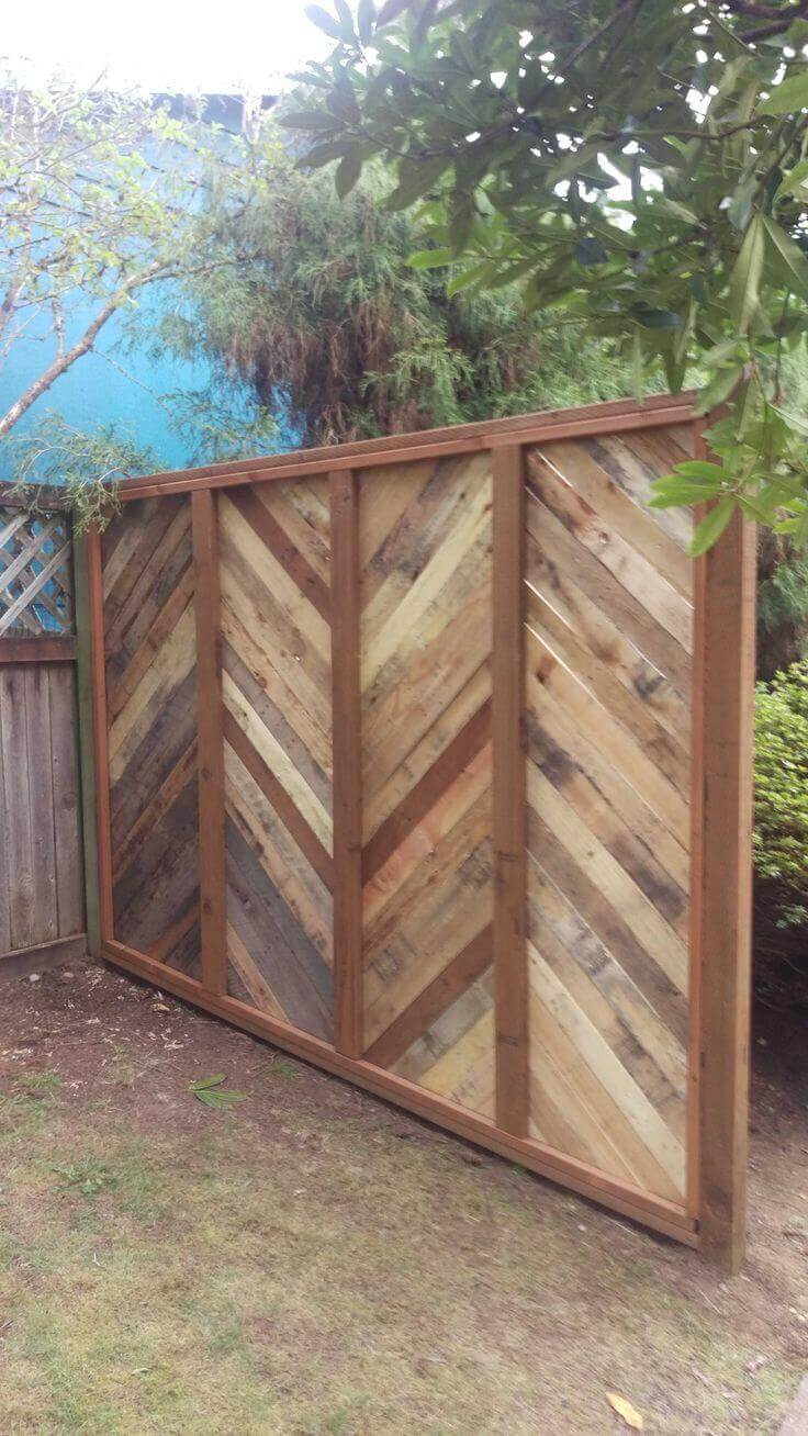 Consider a Wooden Wall Instead of a Shed | Outdoor Eyesore Hiding Ideas