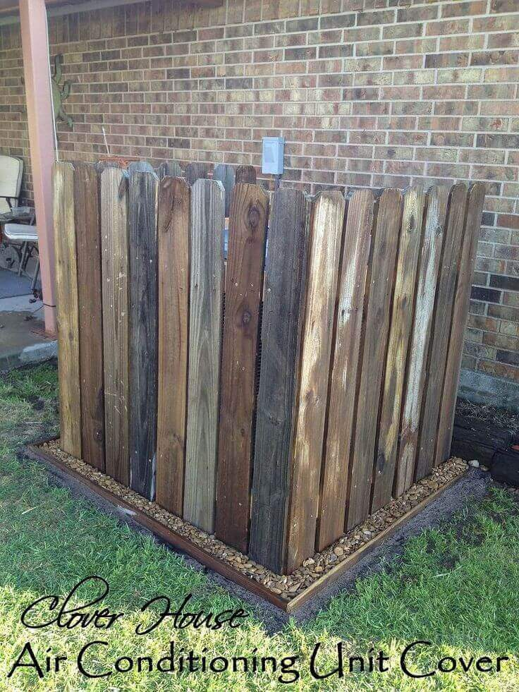 Simple Wooden Fence for AC Camouflage | Outdoor Eyesore Hiding Ideas