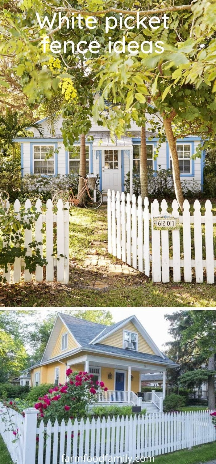 Whie picket fence ideas and designs