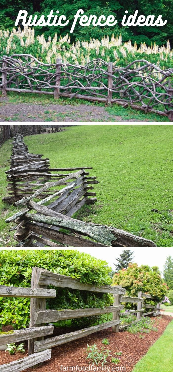 Rustic fence ideas and designs