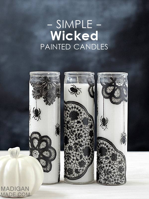 Candles Glisten with Unique Patterns | DIY Indoor Halloween Decorating Ideas