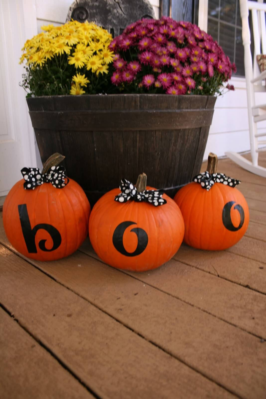 Boo Doesn't Have to be Scary | Fall Porch Decoration Ideas | Porch decor on a budget