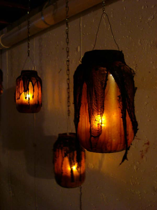 DIY Mason Jar Halloween Crafts: Spine-Chilling Spiderweb Luminaries