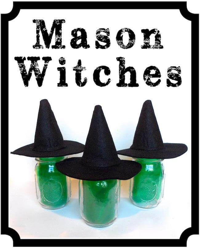 DIY Mason Jar Halloween Crafts: Super Simple Mason Jar Witches