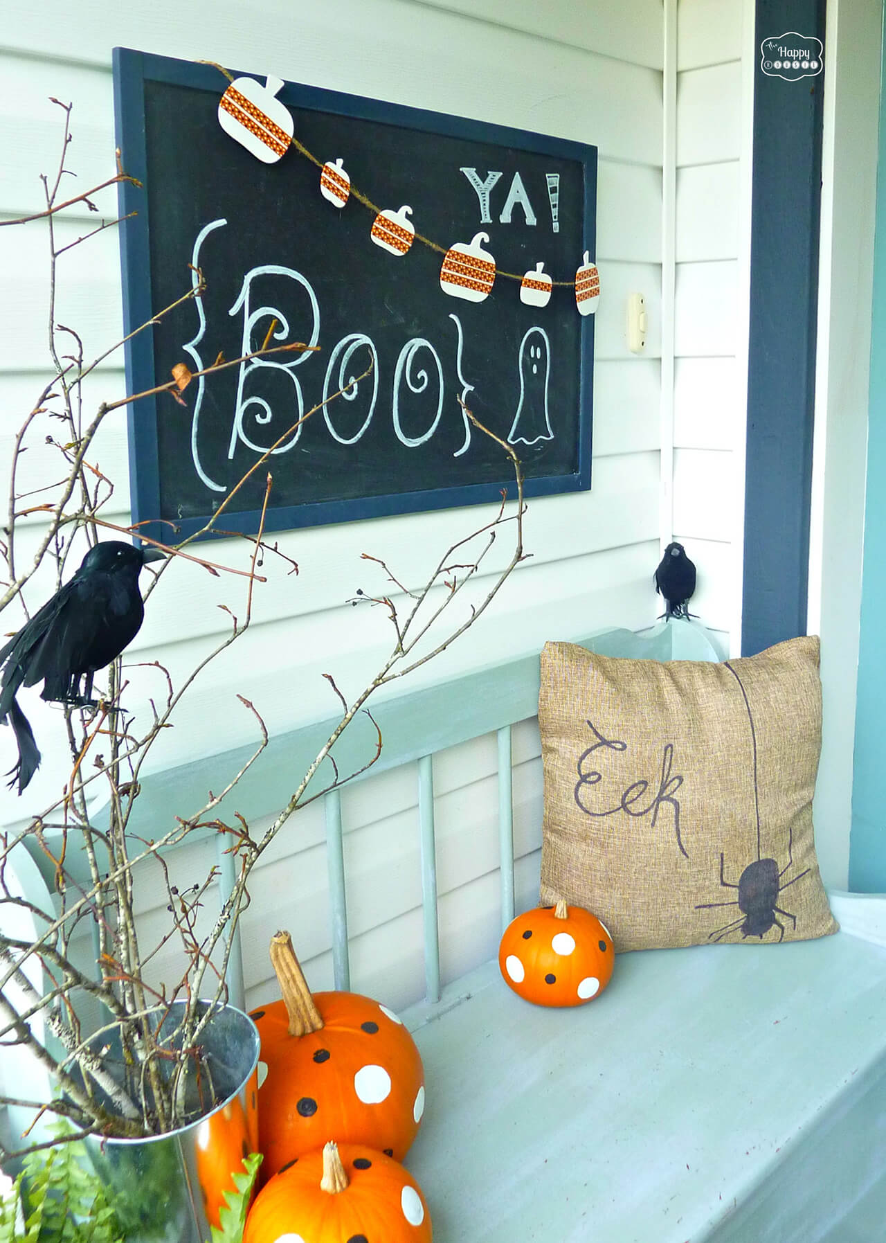 Simple and Sweet | Scary DIY Halloween Porch Decoration Ideas | vintage halloween porch