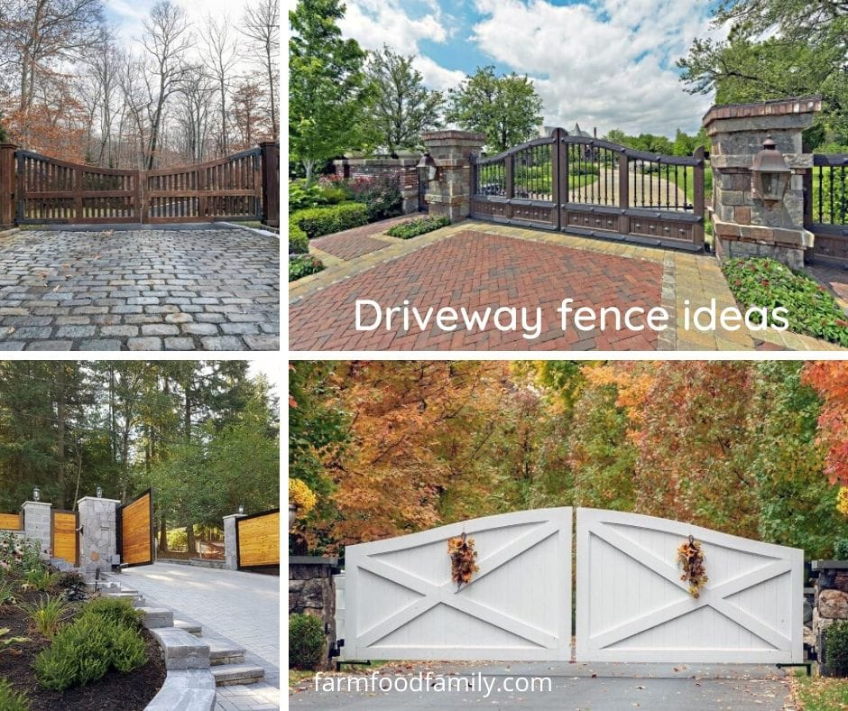 Driveway gate and fence ideas