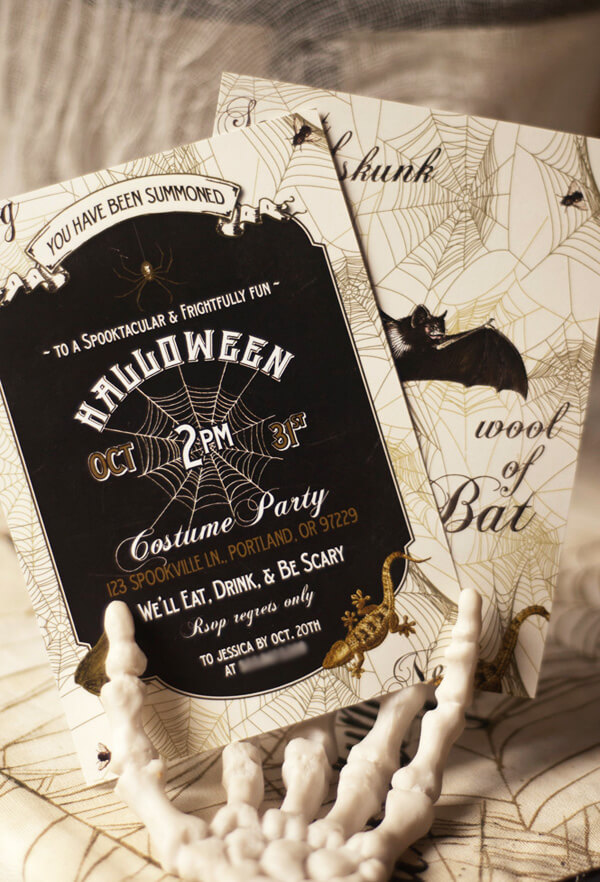 It Starts with the Invitation | Awesome DIY Halloween Party Decor | BHG Halloween