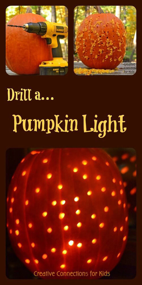 DIY Pumpkin Carving Ideas: Get Your Drill On