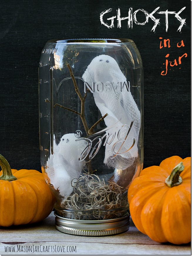 DIY Mason Jar Halloween Crafts: A Ghosts In A MASON Jars Halloween Globe