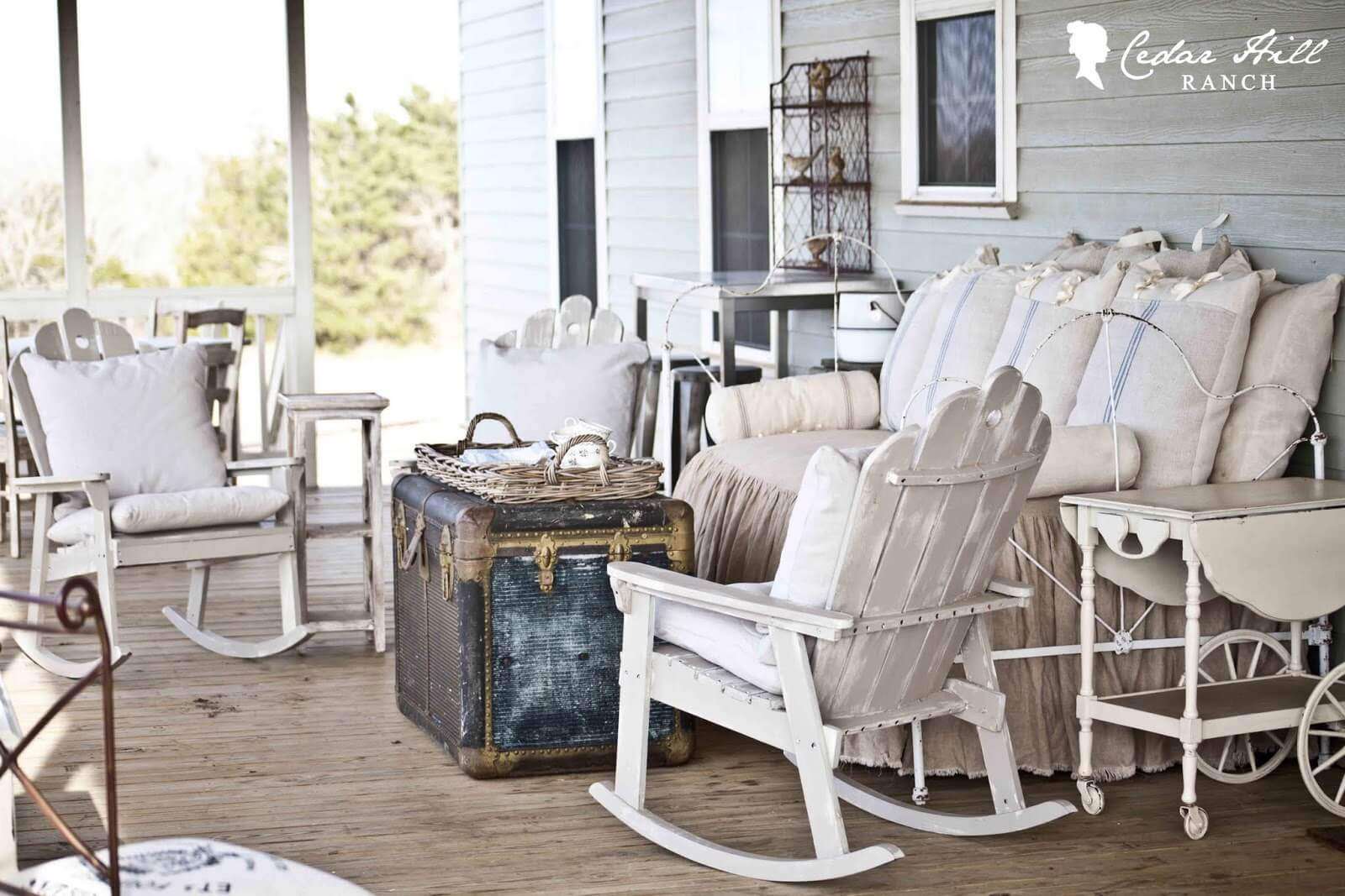 Lived In and Lived On Outdoor Furniture   Vintage Porch Decor Ideas
